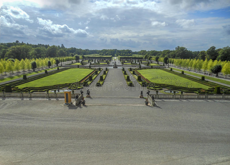 Jardim formal em Éstocolmo Drottningholm fotos de stock
