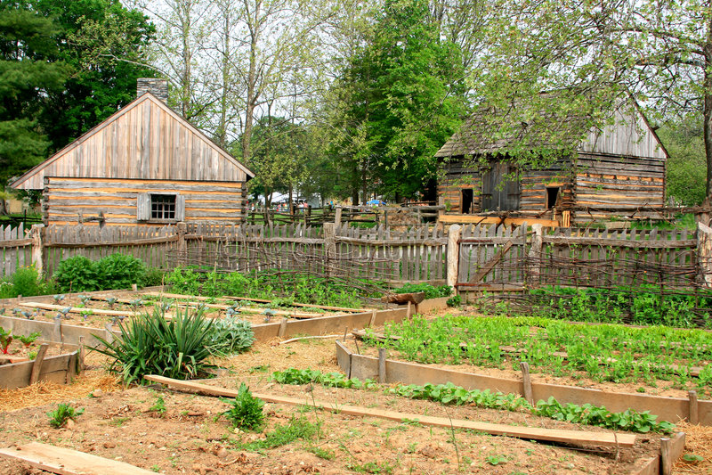 Jardim histórico da exploração agrícola imagem de stock royalty free