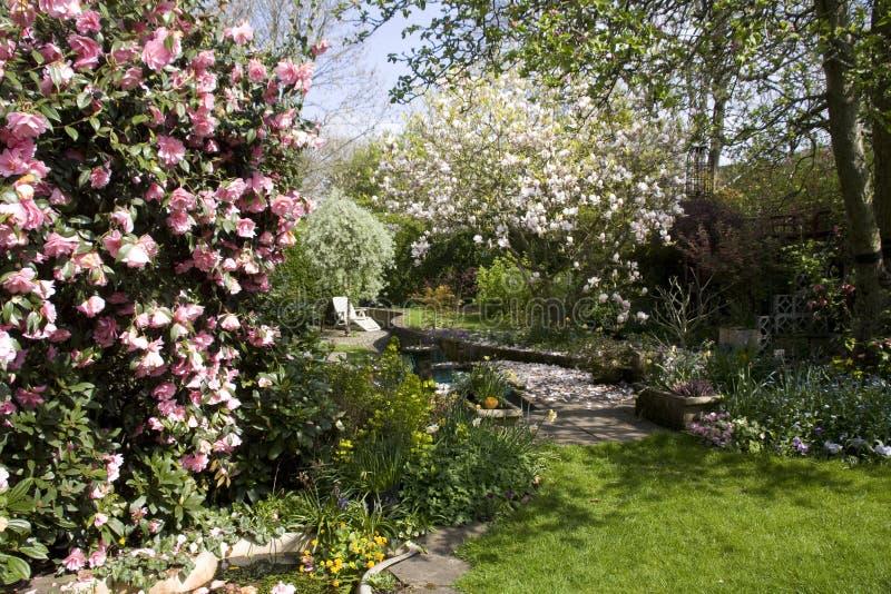 Jardim inglês típico fotos de stock