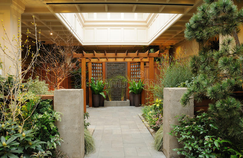 Jardim interno foto de stock