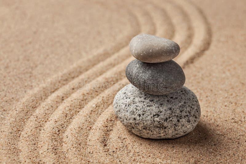 Jardim japonês da pedra do zen imagem de stock royalty free