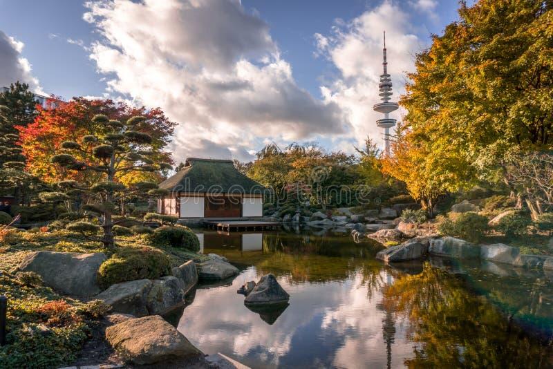 Jardim japonês Hamburgo HDR foto de stock