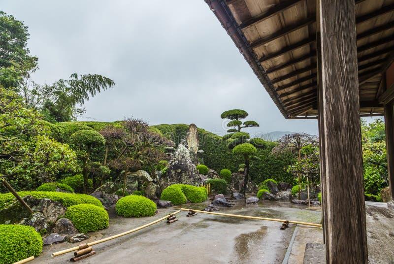 Jardim japonês no distrito do samurai de Chiran em Kagoshima, Japão imagens de stock