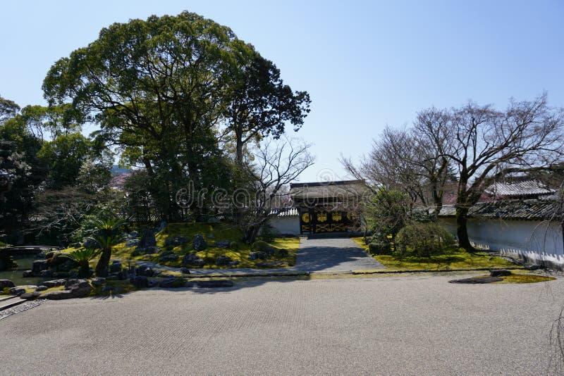 Jardim japonês no templo de Daigoji, Kyoto imagem de stock royalty free