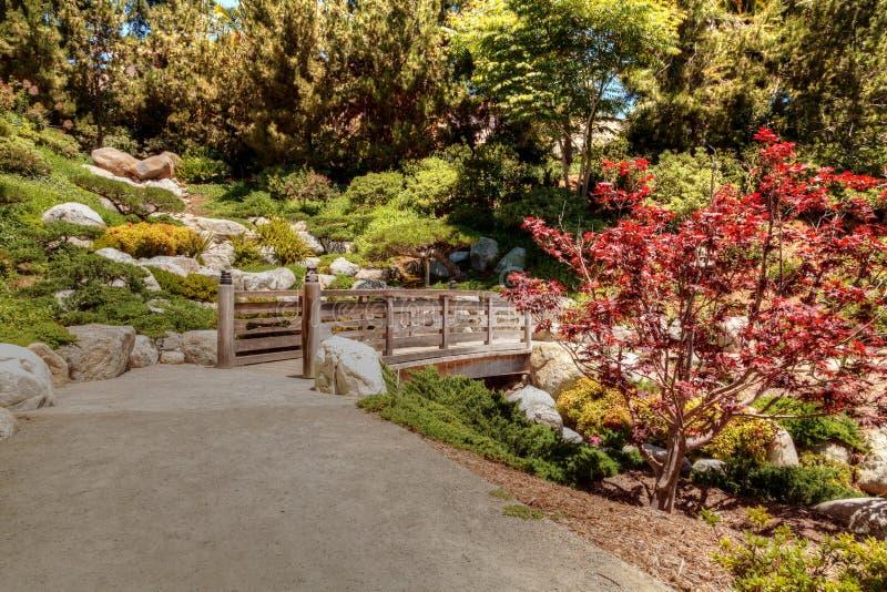 Jardim japonês tranquilo da amizade no parque do balboa em Di de San fotografia de stock royalty free