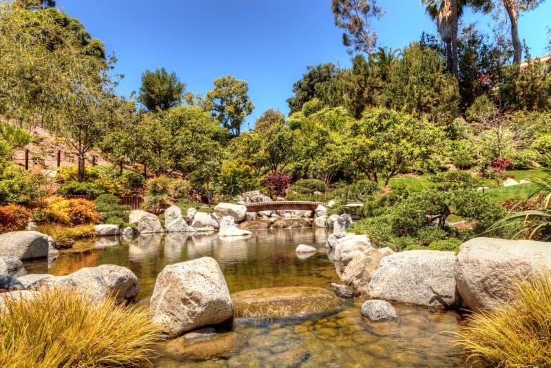 Jardim japonês tranquilo da amizade no parque do balboa em Di de San fotografia de stock