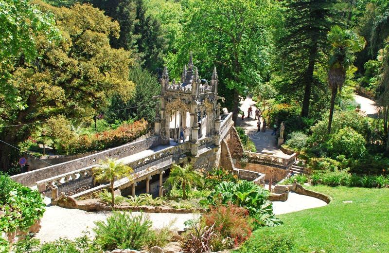 Jardim majestoso (Sintra, Portugal) imagens de stock