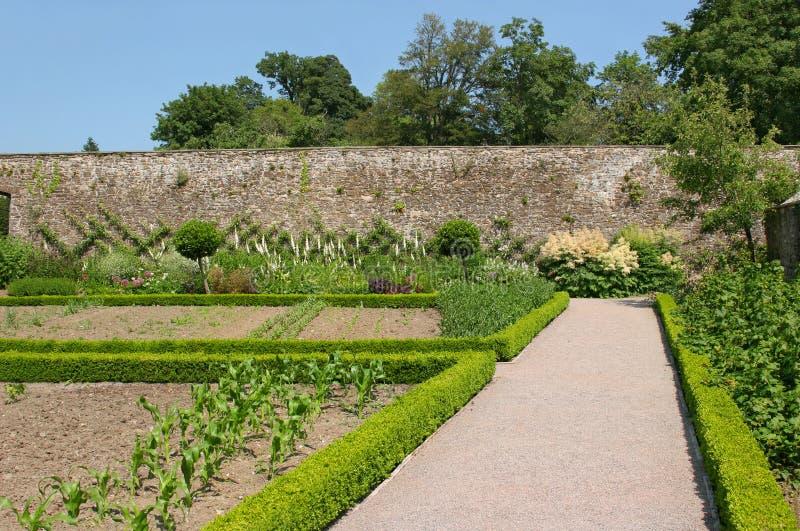 Jardim murado antigo foto de stock