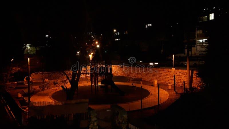 Jardim na noite fotos de stock royalty free