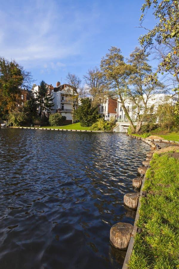 Download Jardim No Centro Da Cidade De Lubeque, Alemanha Foto de Stock - Imagem de historic, folha: 80100874