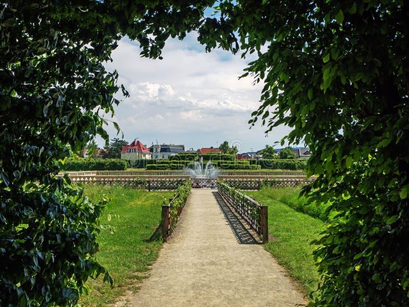 Jardim no kromeryz, republik checo imagem de stock royalty free