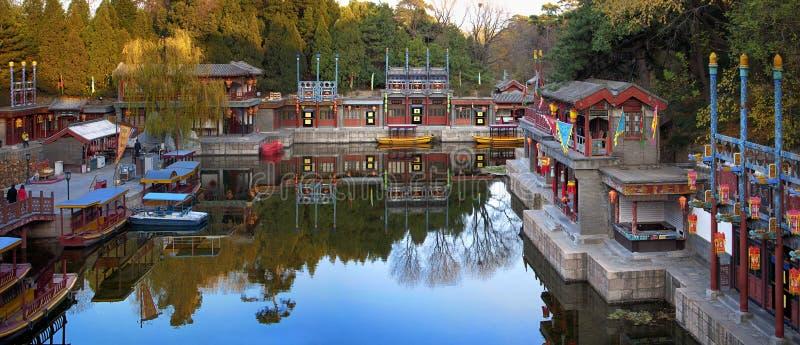 Jardim no palácio de verão de Beijing fotografia de stock