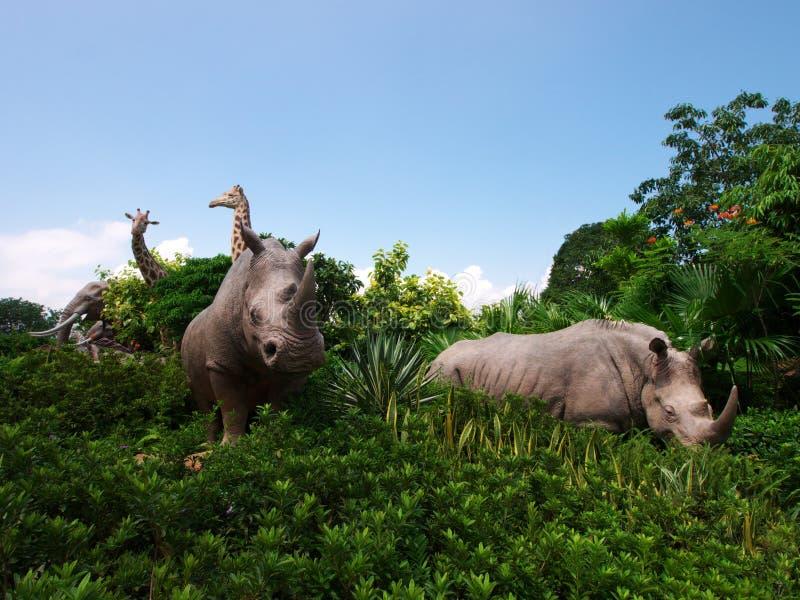 Jardim no parque da arca do noah imagem de stock royalty free