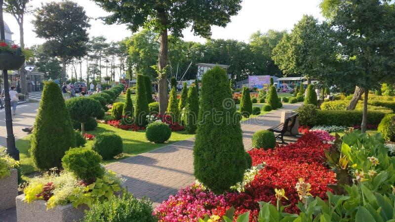 Jardim no Polônia foto de stock