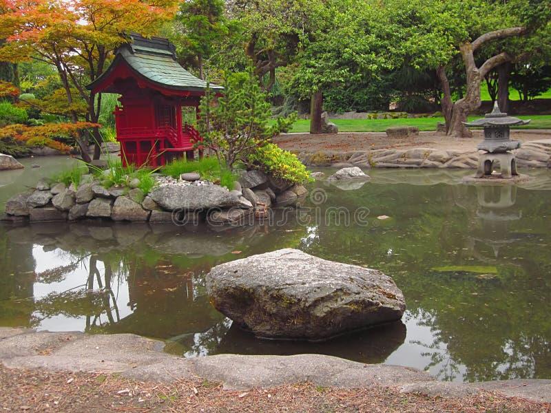 Jardim oriental fotografia de stock