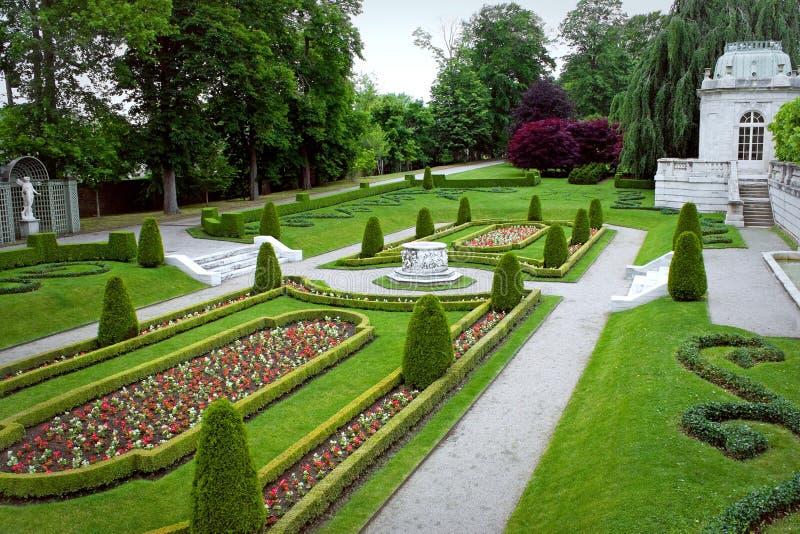 Jardim ornamentado do parque fotos de stock royalty free