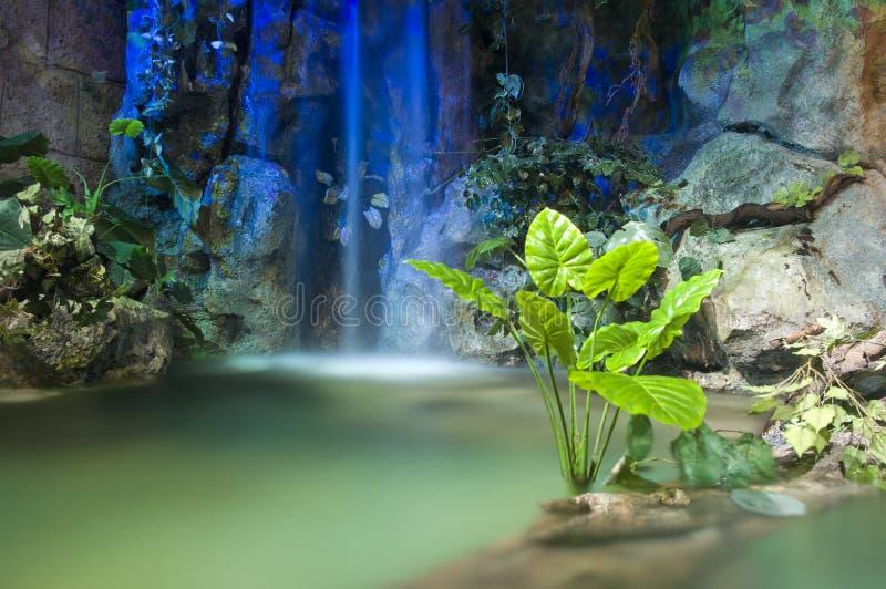 Jardim ornamental e lagoa foto de stock royalty free