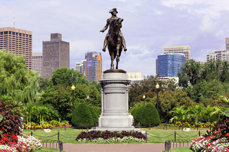 Jardim público de Boston fotos de stock