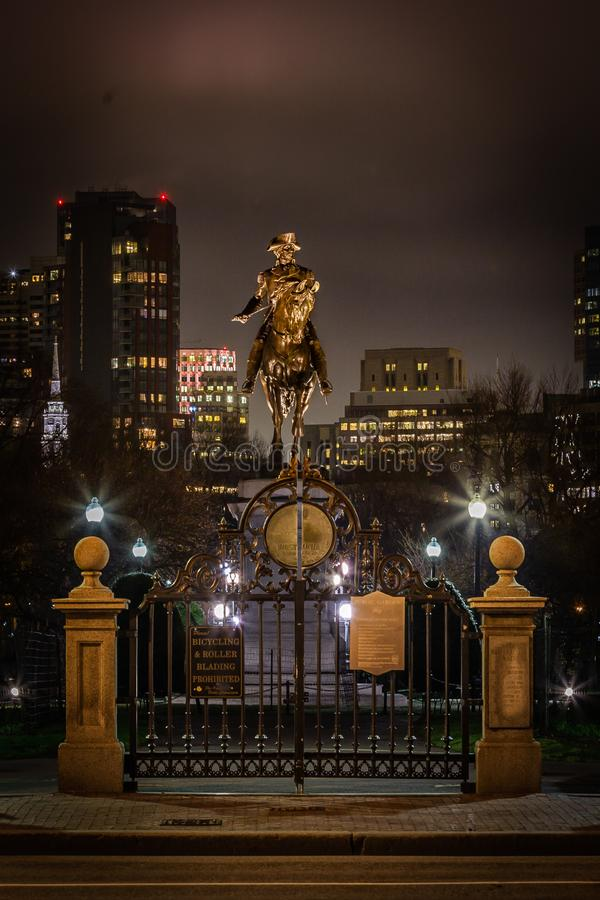 Jardim p?blico de Boston fotos de stock royalty free