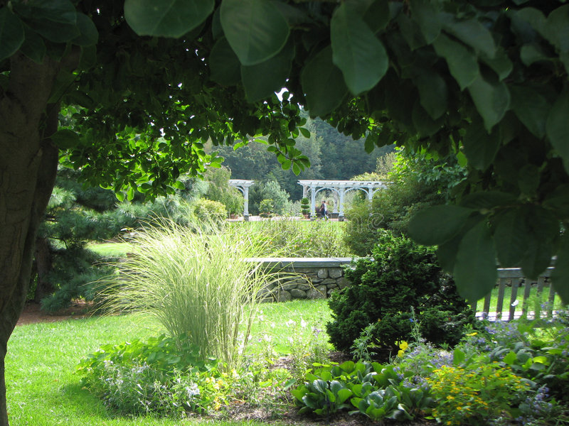 Jardim quadro do gramado fotos de stock