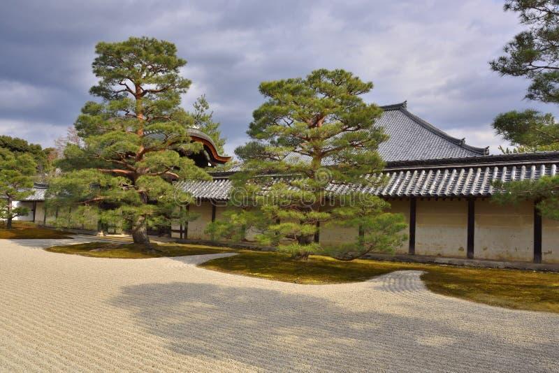 Jardim seco japonês da paisagem imagem de stock royalty free