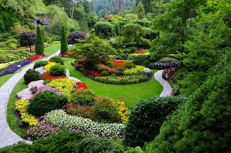 Jardim Sunken foto de stock