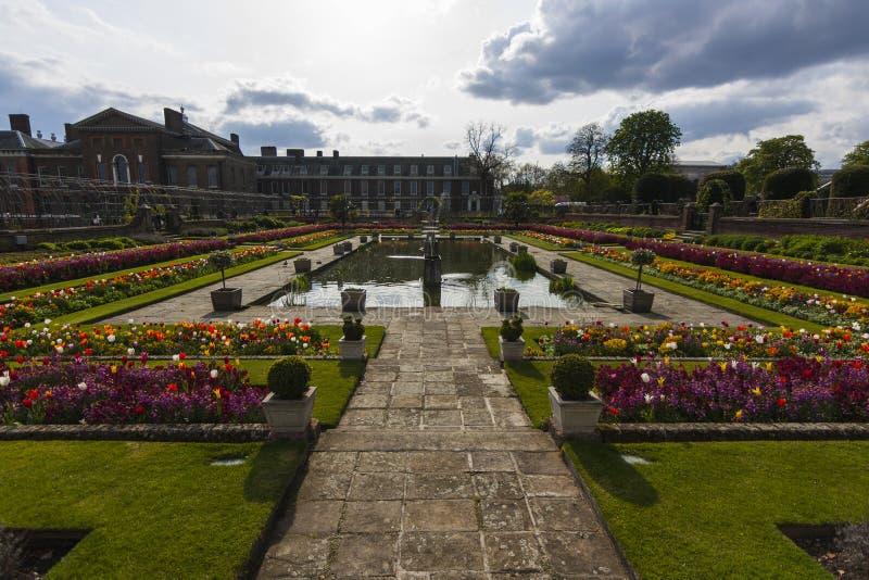 Jardim Sunken imagem de stock royalty free