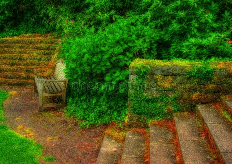 Jardim surreal imagens de stock royalty free