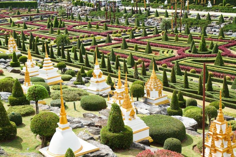 Jardim tropical de Nong Nooch foto de stock