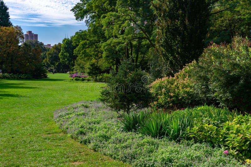 Jardim verde em Lincoln Park Chicago imagem de stock