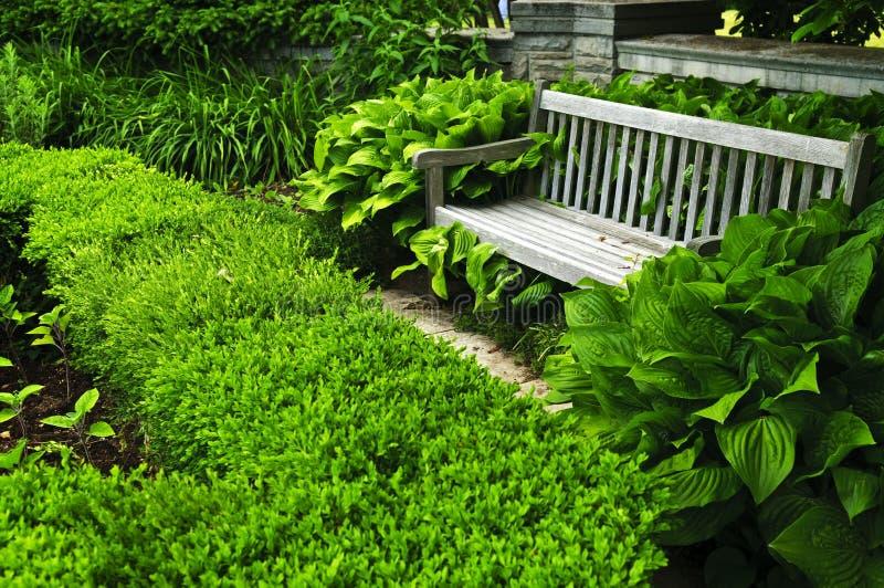 Jardim verde luxúria foto de stock