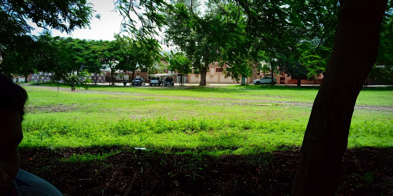Jardim view2 imagem de stock