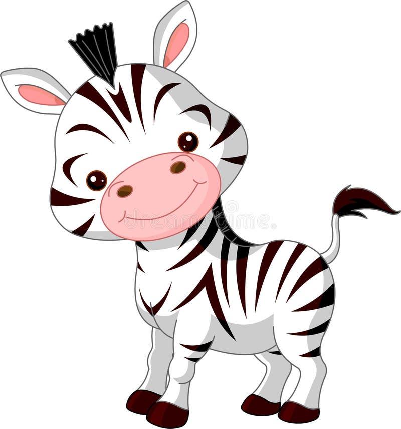 Jardim zoológico do divertimento. Zebra ilustração stock