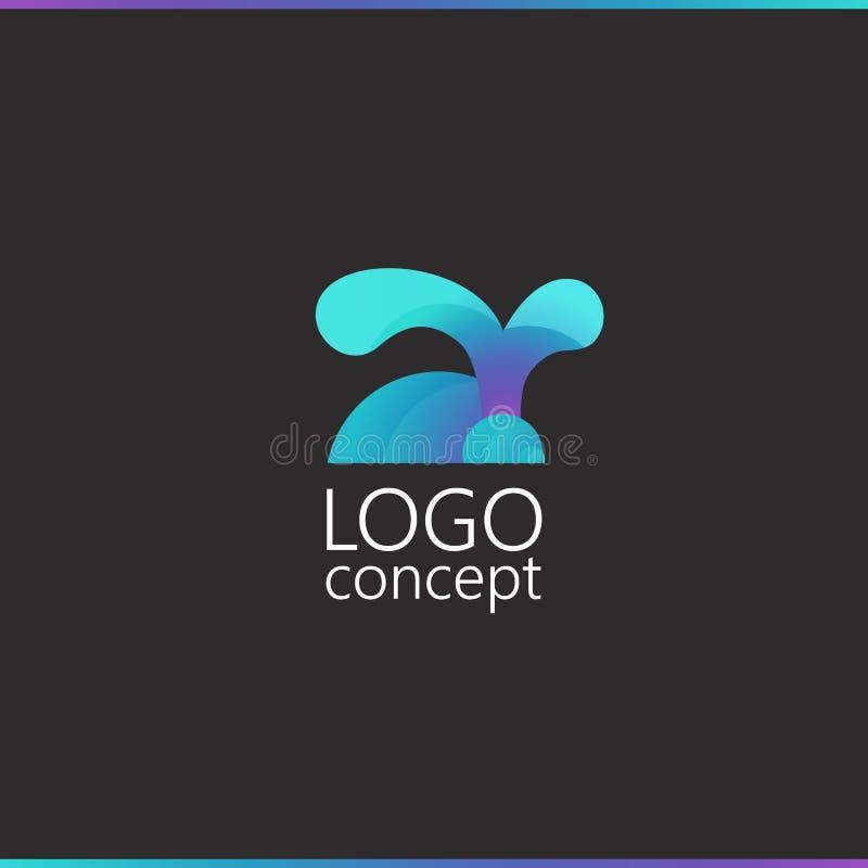 Jardim zoológico do molde do logotipo, loja animal, coelho azul ilustração royalty free
