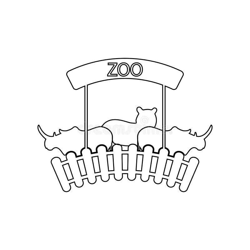 jardim zool?gico \ '?cone do logotipo de s Elemento do jardim zool?gico para o conceito e o ?cone m?veis dos apps da Web Esbo?o,  ilustração do vetor