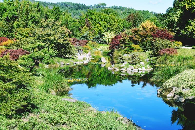Jardin庭院自然狂放的Asie 库存图片