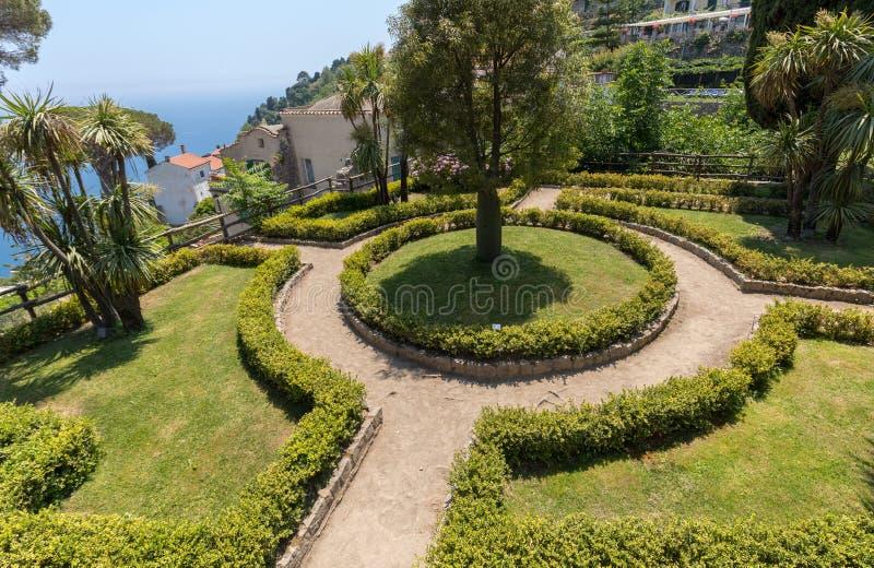 Jardin à la villa Rufolo dans Ravello Côte d'Amalfi - Italie images stock