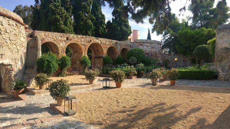 Jardin à Malaga, Espagne photographie stock libre de droits