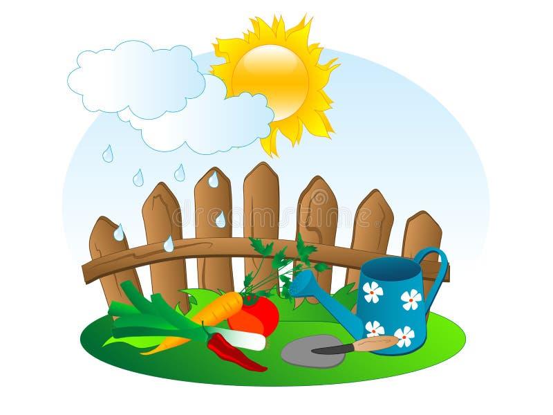 Jardin illustration de vecteur