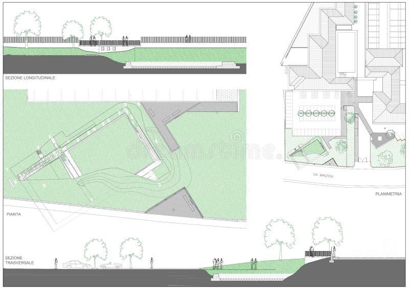 Jardin archéologique illustration stock