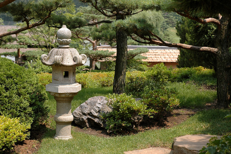 Jardin asiatique ii de lanterne photo stock image du reposant arbustes 975124 - Jardin asiatique ...