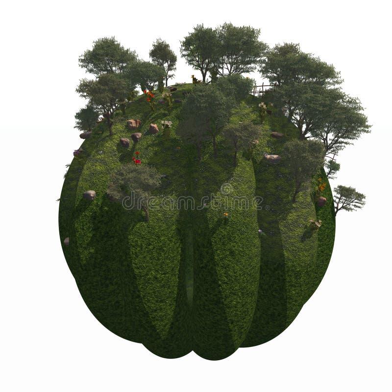 Jardin au sol de montagne de globe illustration de vecteur