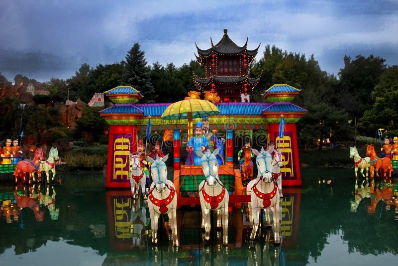 Jardin botanique chinois de Montréal. image libre de droits