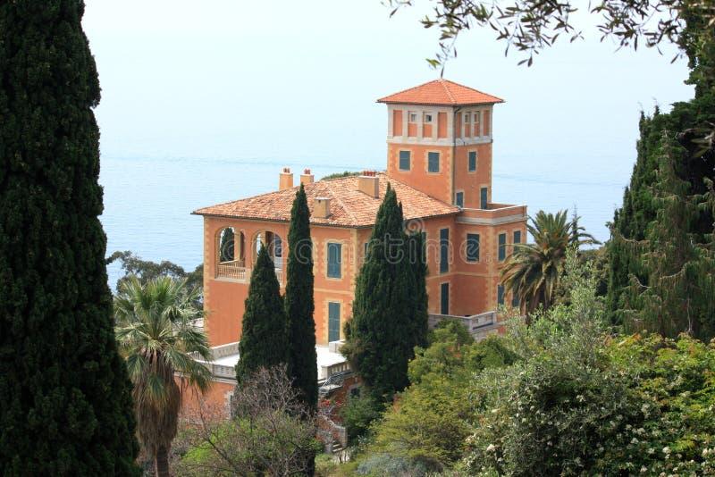 Jardin botanique de Hanbury de villa, Italie image stock