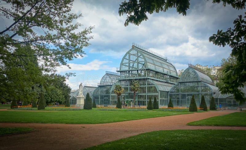 Jardin botanique de Lyon, Frankrike arkivbild