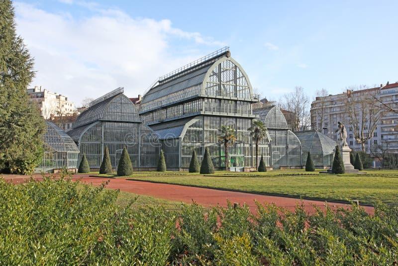Jardin botanique en parc de la tête d'or à Lyon, France images stock