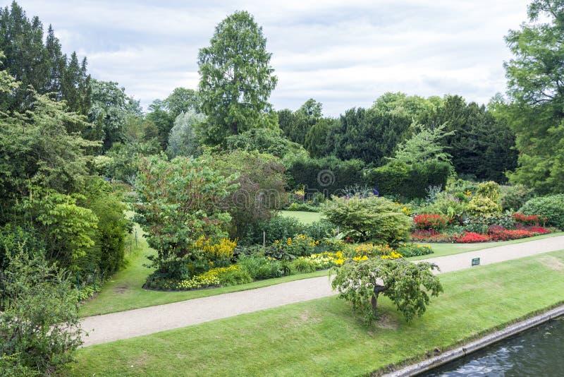 Jardin Cambridge Angleterre image libre de droits
