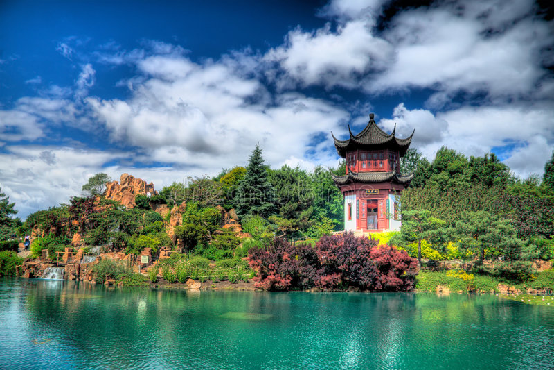 Jardin chinois photographie stock