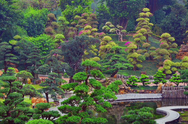 Jardin chinois de zen photo stock