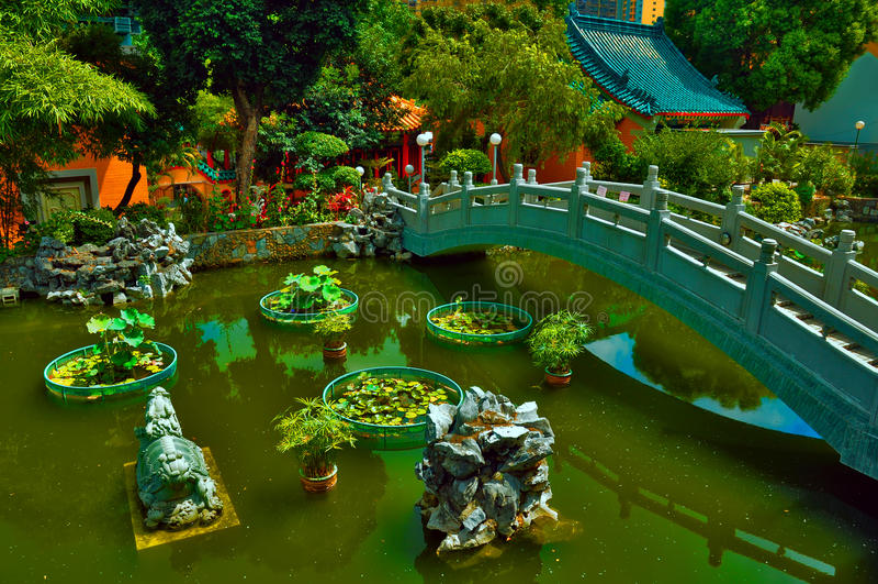 Jardin chinois de zen image stock image du cosse d cor for Jardin chinois zen